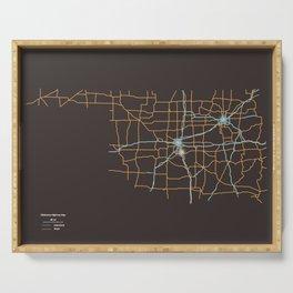Oklahoma Highways Serving Tray