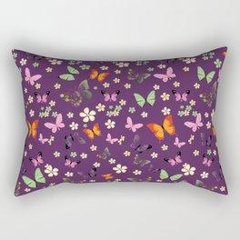 New Watercolour Butterflies XVI (colorful butterflies) Rectangular Pillow
