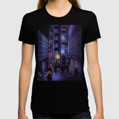 Shibuya Nights / Bouncing Lights Womens Fitted Tee Black MEDIUM