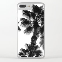 Palm Tree Art Print {3 of 3} | B&W Topical Beach Plant Nature Vacation Sun Vibes Artwork Clear iPhone Case