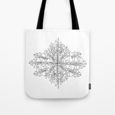 starburst line art - white Tote Bag