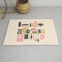 Colorful Cooking In A Mid Century Scandinavian Kitchen Rug