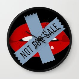 Not For Sale mouth Wall Clock