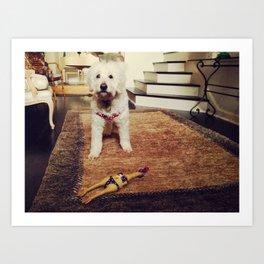 Goldendoodle Dog Art Print