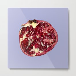 Big Pomegranate on Lavender Metal Print