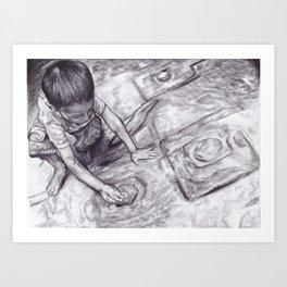 Boy With A Coin Art Print