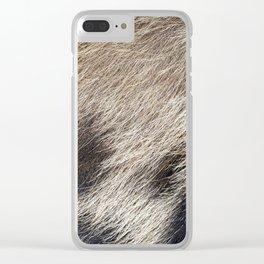Pig Skin Hair Clear iPhone Case