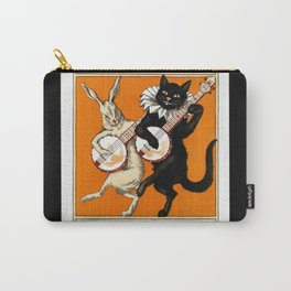 Black Cat for Halloween with Vampire Bunny Carry-All Pouch