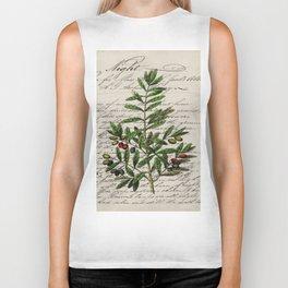 Chic paris scripts kitchen artwork french botanical leaf olive Biker Tank
