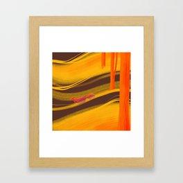Pumpkin spice season Framed Art Print