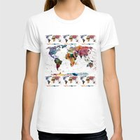dinosaurs T-shirts featuring map by mark ashkenazi
