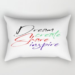 Dream Create Share Inspire Rectangular Pillow