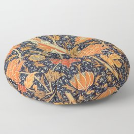 William Morris Cray Floral Art Nouveau Pattern Floor Pillow