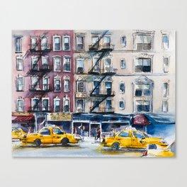 New York, wtercolor sketch Canvas Print