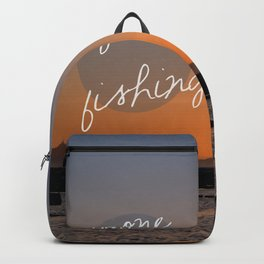 Gone fishing with dad Backpack