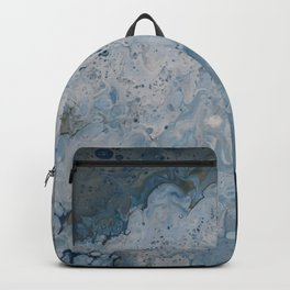 Frozen Waters Acrylic Pour Vector Backpack
