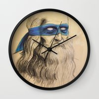 tmnt Wall Clocks featuring Leo TMNT by Rachel M. Loose