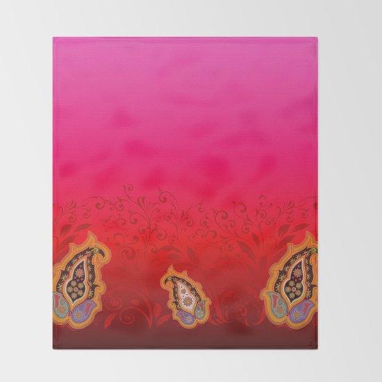 red jewel paisley border by designlunatic