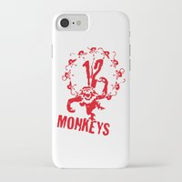 planet of the apes iPhone & iPod Cases featuring Twelve Apes by FunnyFaceArt
