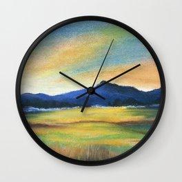 Morning Bliss, Imaginary Landscape Wall Clock
