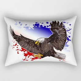 Bald Eagle - Red, White & Blue Rectangular Pillow