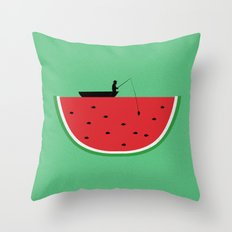 Watermelon Fisher Throw Pillow
