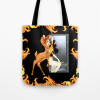 givenchy Tote Bags featuring Givenchy scarf with flame and bambi print by Le' + WK$amahoodT Boutique by Paynasa®