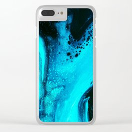 Blue Splash Clear iPhone Case