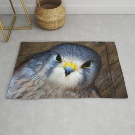 Kestrel in close-up Rug