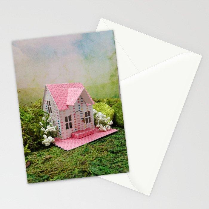 Pink Cottage Stationery Cards