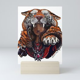 Tiger Lady Mini Art Print