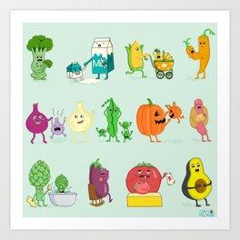 Baby Veggies Art Print