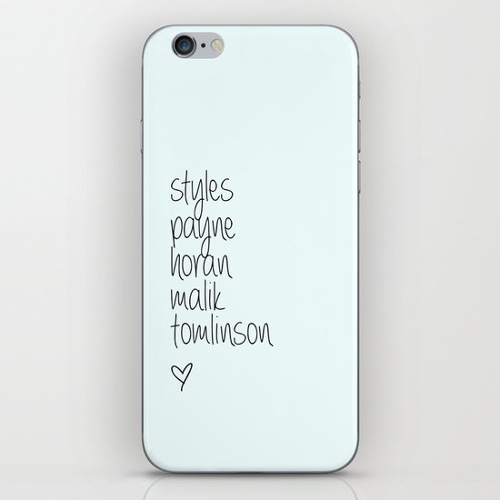 One Direction Last Names iPhone & iPod Skin