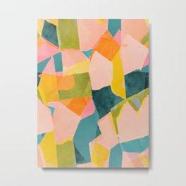 Fun Beautiful Cloodiscope Paper Cut Out Patterns Fun Summer Tropical Style Metal Print