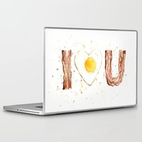bacon Laptop & iPad Skins featuring Bacon by Olechka