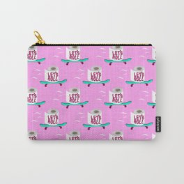 Let's Roll! Pink Carry-All Pouch