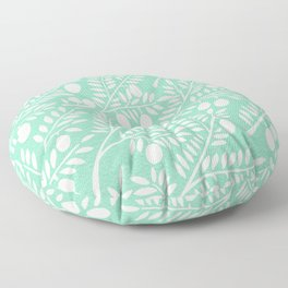 Mint Olive Branches Floor Pillow