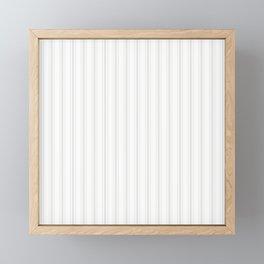 Creamy Tofu White Mattress Ticking Wide Striped Pattern - Fall Fashion 2018 Framed Mini Art Print