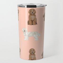 Labradoodle dog breed pet pattern labradoodles Travel Mug