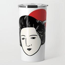 Japan Flag Geisha Japanese Entertainer Gift Travel Mug