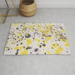 Yellow Grey Classic Abstract Art Rug