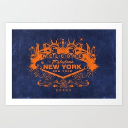 Sin City (Orange/Blue) Art Print