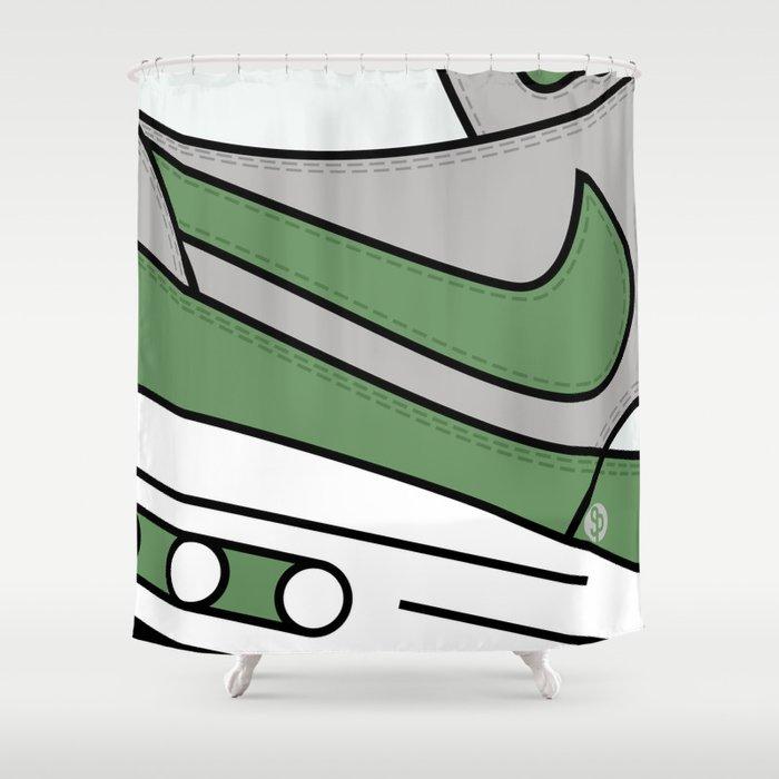 SNEAKERPILLOW   NIKE AIR MAX ONE PATTA CHLOROPHYLL Shower Curtain