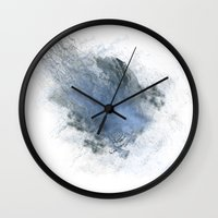 the thing Wall Clocks featuring Smoke Thing by Blue Muse