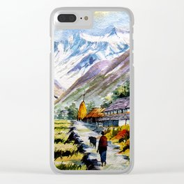 Long Walk By The Mountain Clear iPhone Case