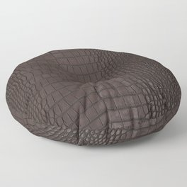Alligator Brown Leather Print Floor Pillow