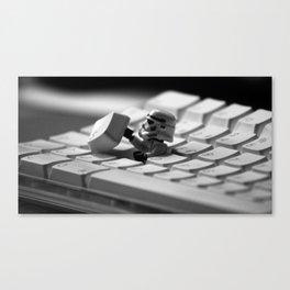 Storm Trooper Keyboard Canvas Print
