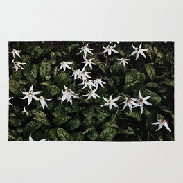 White Fawn Lilies; Open Your Heart Rug