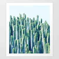 Art Prints featuring Cactus V2 #society6 #decor #fashion #tech #designerwear by 83 Oranges™