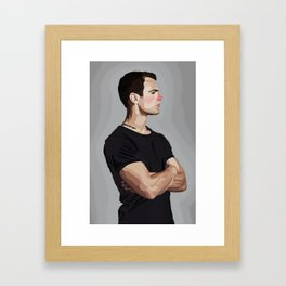 Four with Red Nose Framed Art Print